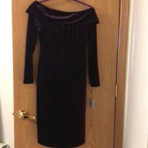 Vel-purple dress